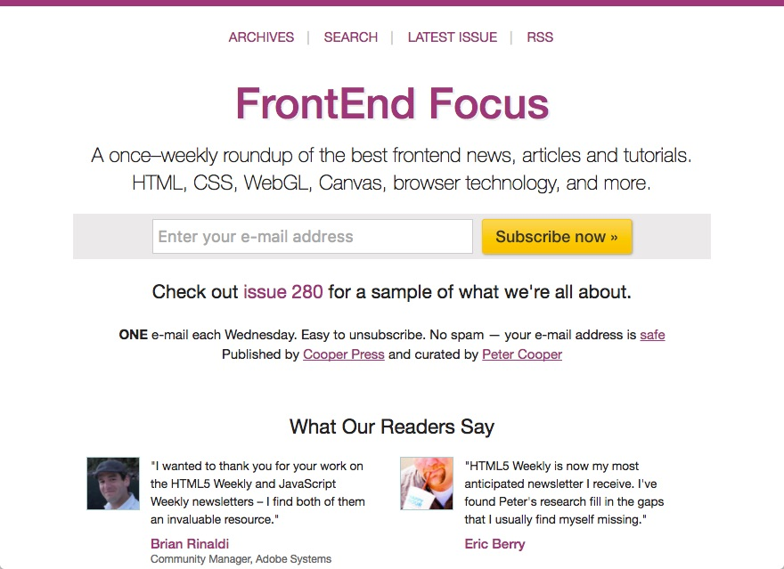 12 Useful Newsletters For Web Developers | Jscramber Blog
