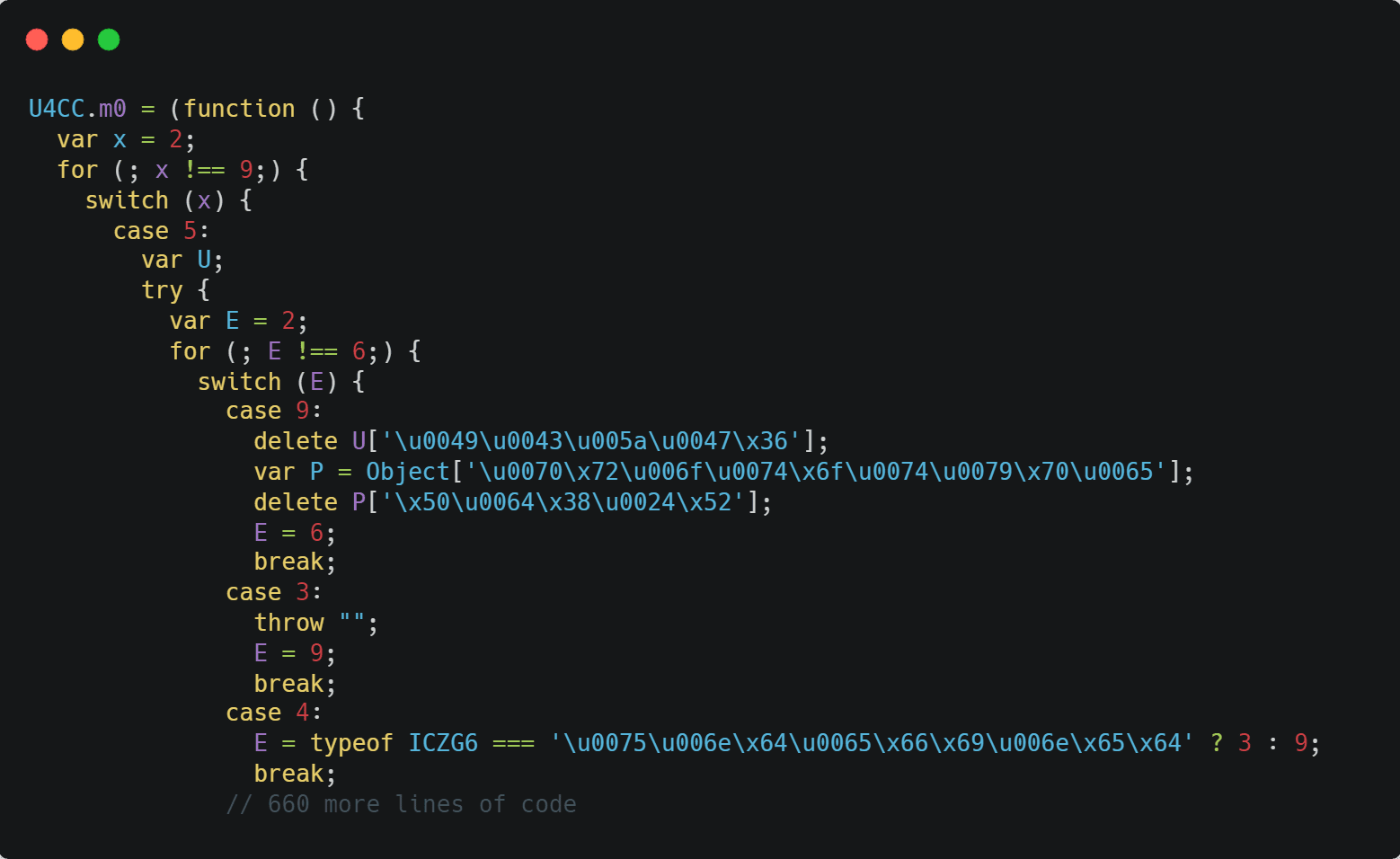 JavaScript Obfuscation Example